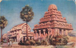 Seven_Pagodas,_Madras_-_Tucks_Oilette_(1911)