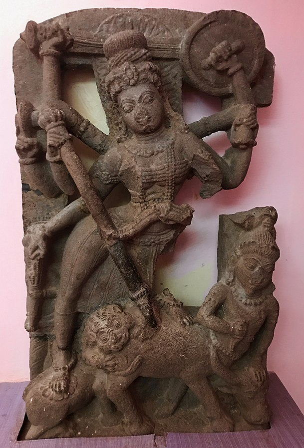 609px-8th_-_9th_century_Durga_Mahishasuramardini_killing_the_buffalo_demon,_Hindu_temple_ruins_Sirpur_Chhattisgarh_3