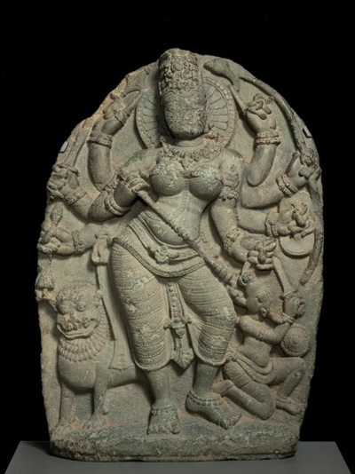 Durga-killing-buffalo-demon
