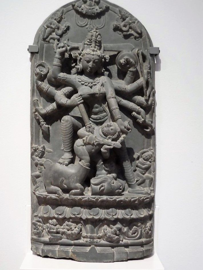 Durga, Pala art from east India