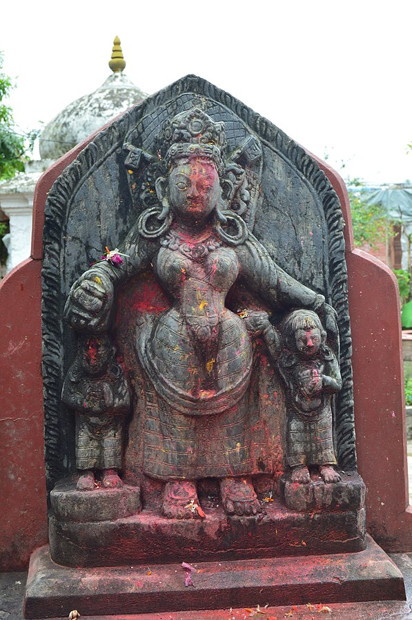 Sitala_Maa_Statue_at_Gokarneshwor_Mahadev_Temple_Premises,_Gokarna,_Kathmandu