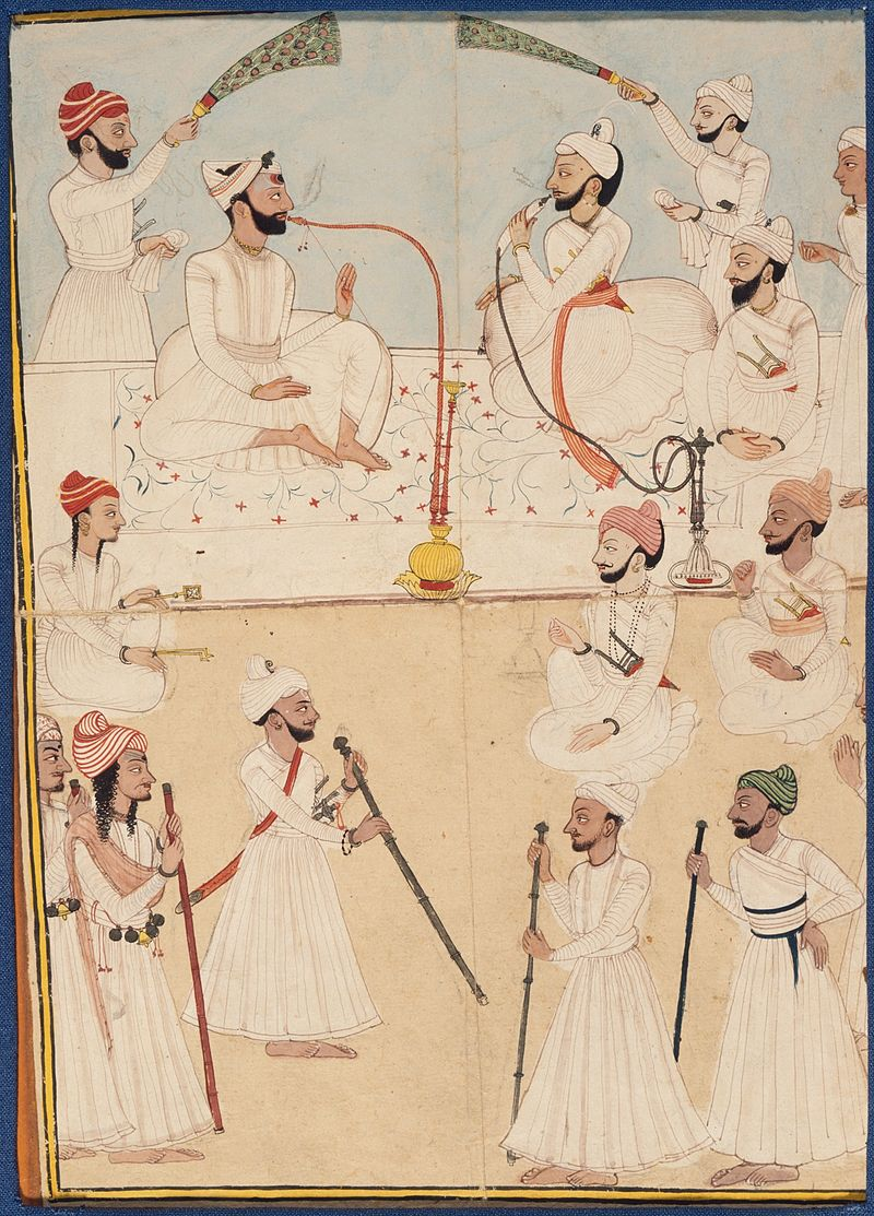 800px-Raja_Shamsher_Sen_of_Mandi_and_Raja_Ranjit_Suket_in_Darbar_LACMA_M.74.5.10